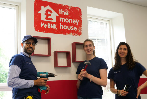 Volunteers at The Money House