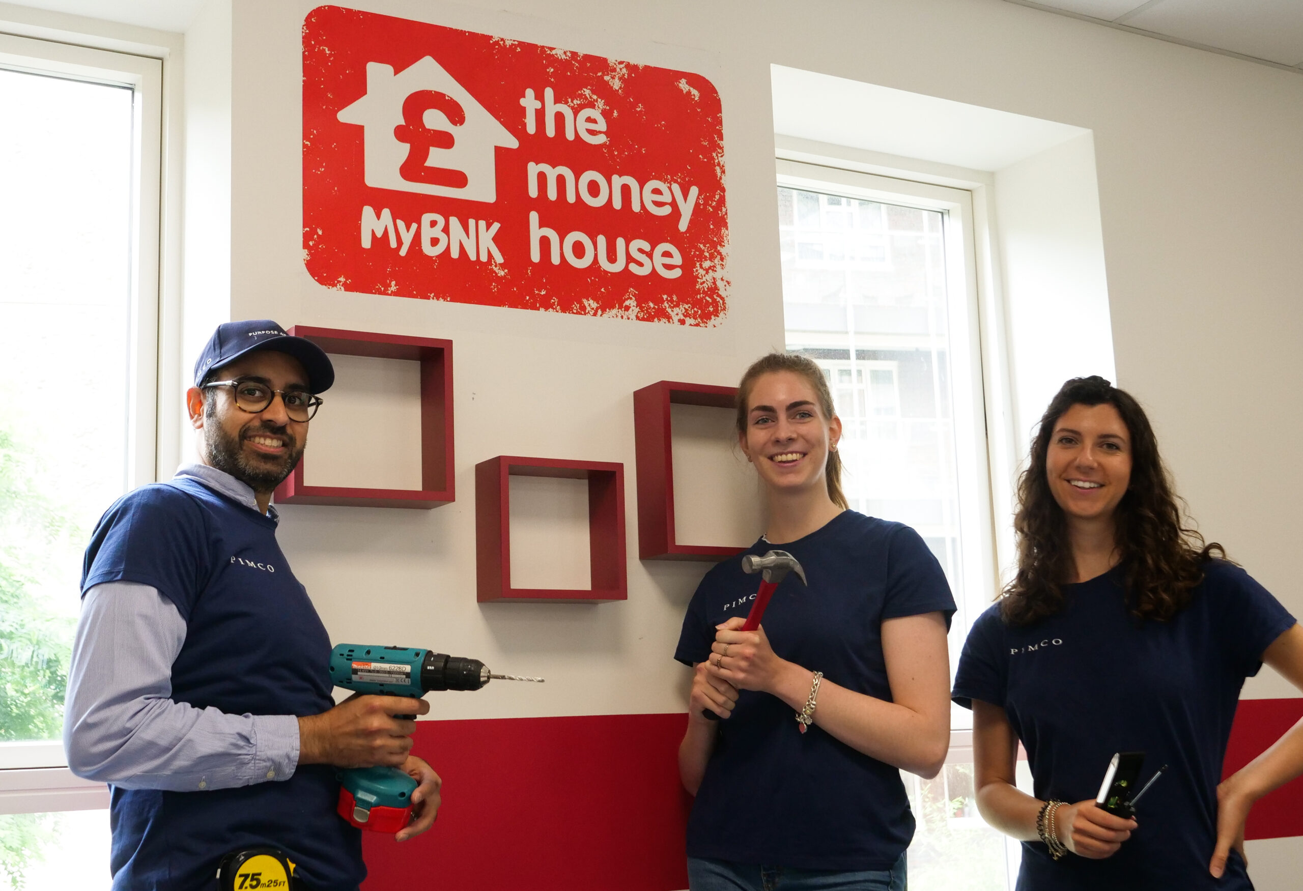 PIMCO volunteers give The Money House 'Amazing Spaces' makeover
